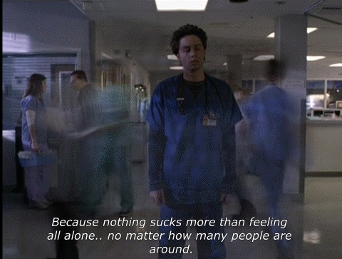 alone, lonely, scrubs, sad lonely GIFs