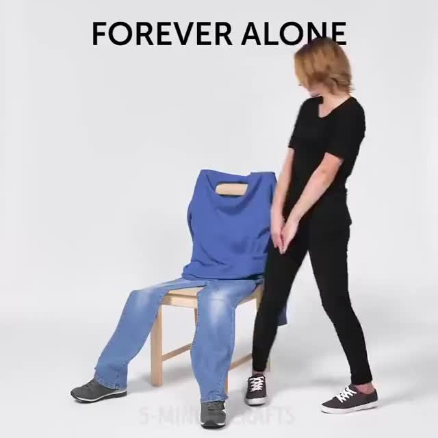 Watch FOREVER ALONE GIF on Gfycat. Discover more Gentleman, Laundry, beauty, behaviour, correct, couple, date, diy, elevator, etiquette, girl, girls, household, ideas, lady, mistakes, proper, protect, tricks, women GIFs on Gfycat