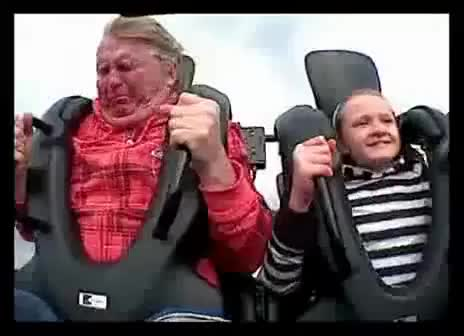 Watch and share Dad Pukes All Over Daughter On Roller Coaster GIFs on Gfycat
