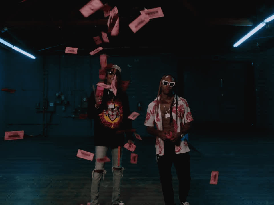 Charli XCX, Ty Dolla $ign, Wiz Khalifa, boys, make it rain, music video, party, Wiz Khalifa & Ty Dolla $ign - Charli XCX Boys GIFs