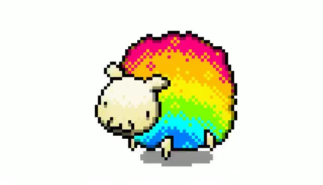 Watch and share Reggie The Rainbow Sheep GIFs on Gfycat