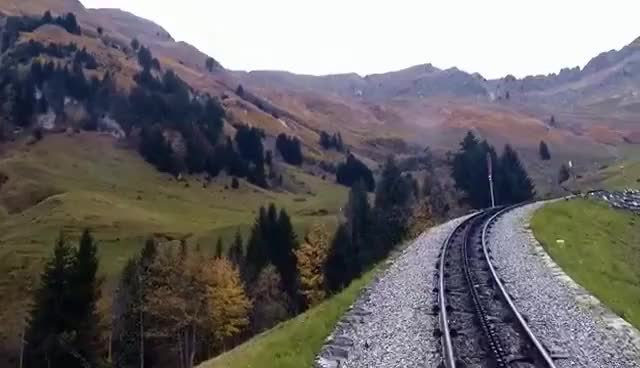 Watch Brienz Rothorn Bahn (Switzerland) - Drivers Eye View GIF on Gfycat. Discover more related GIFs on Gfycat