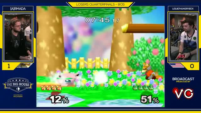 TBH6 SSBM - Liquid'Hungrybox (Jigglypuff) Vs. [A]rmada - Smash Melee Losers Quarters