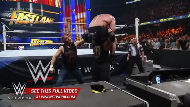 Watch Reigns vs. Ambrose vs. Lesnar - Winner faces Triple H at WrestleMania: WWE Fastlane 2016 GIF on Gfycat. Discover more Superstars, wrestle, wrestler, wrestling, wwe GIFs on Gfycat