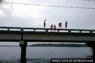 Watch and share Jump Off A Bridge GIFs on Gfycat