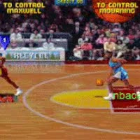 Watch and share Robert Horry, He Is On Fire !! (NBA JAM TE (Tournament Edition) Arcade Game) Gif GIFs on Gfycat
