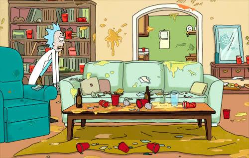 hangover, hungover, rick and morty, Rick and Morty Hungover GIFs
