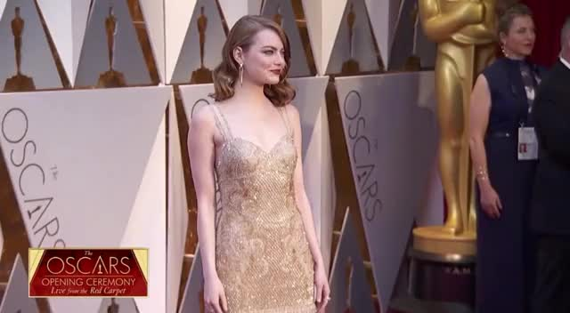 Watch Emma Stone on the Red Carpet - Oscars 2017 GIF by Vera Yuan (@verbear) on Gfycat. Discover more oscars, oscars2017, redcarpet GIFs on Gfycat