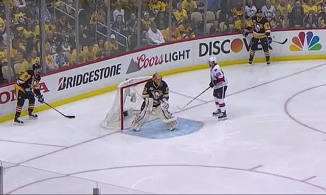 Watch and share Hoffman Gives Fleury A Little Nudge, Who Doesn't Like It (reddit) GIFs by Flintor on Gfycat