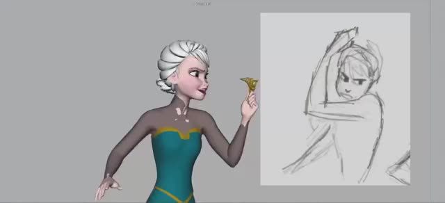 Watch and share Elsa's Hair Flip From The Story Of Frozen: Making A Disney Animated Classic (reddit) GIFs on Gfycat
