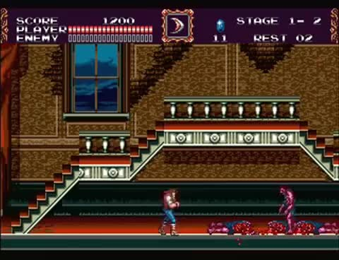 Watch and share Castlevania: Bloodlines - No Damage Run - Stage 1 GIFs on Gfycat