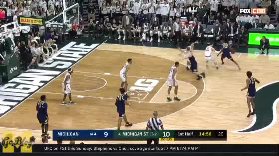 Watch and share Michigan State GIFs and Jordan Poole GIFs by MGoBlog on Gfycat