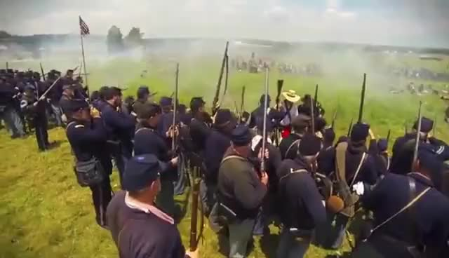 Watch and share Gettysburg 150th - Pickett's Charge (Civil War Reenactment) GIFs on Gfycat