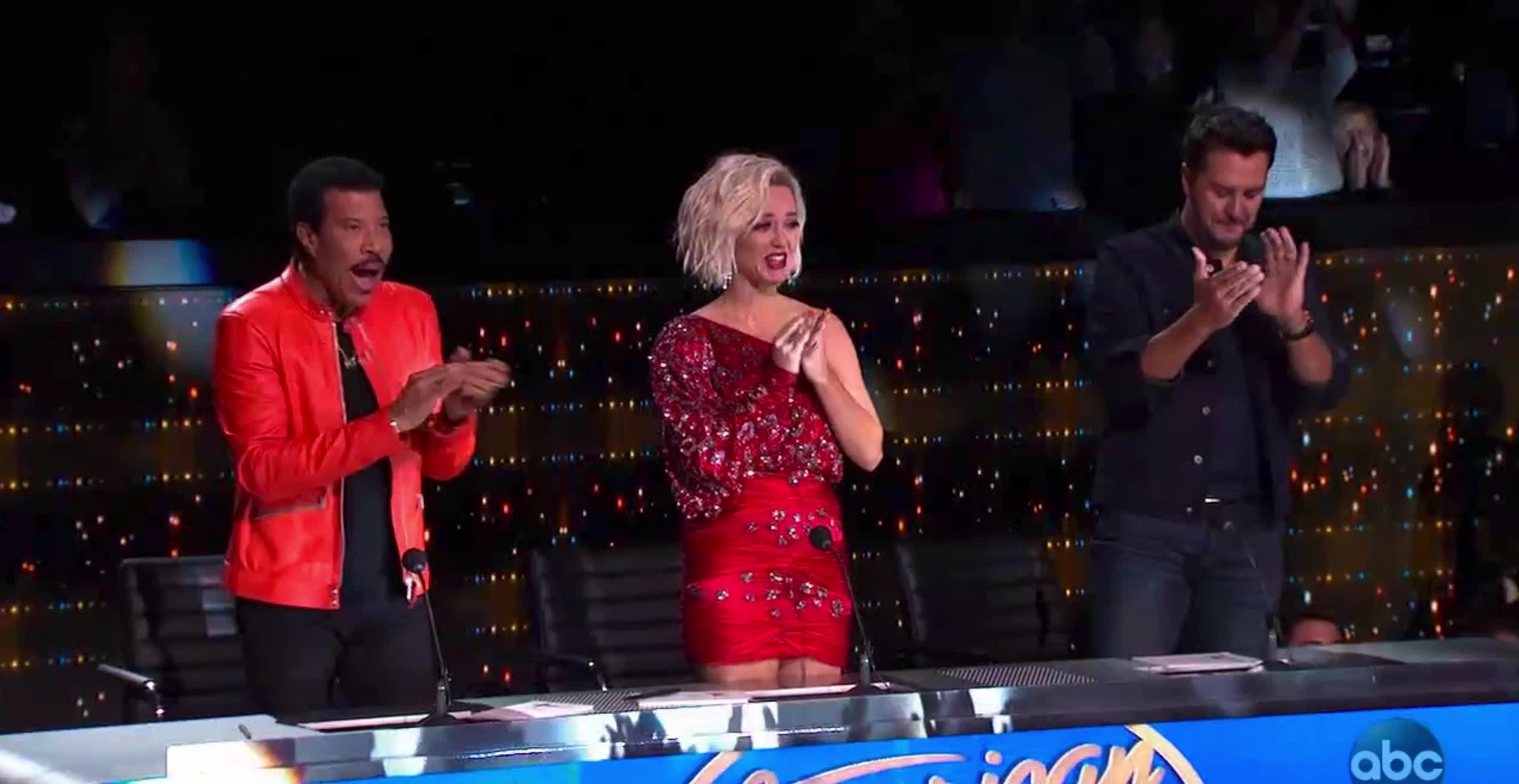 american idol, american idol season 17, americanidol, applause, clap, clapping, jeremiah lloyd harmon, judges, katy perry, lionel richie, luke bryan, ryan seacrest, season 17, American Idol Judges Applaud Jeremiah GIFs