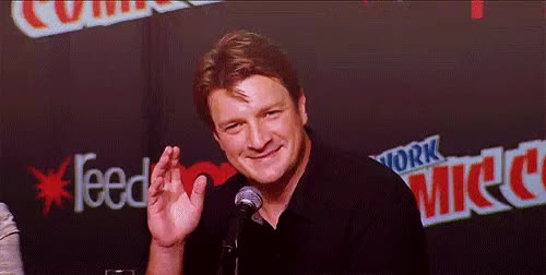 Watch and share Nathan Fillion GIFs and Blow Kiss GIFs on Gfycat