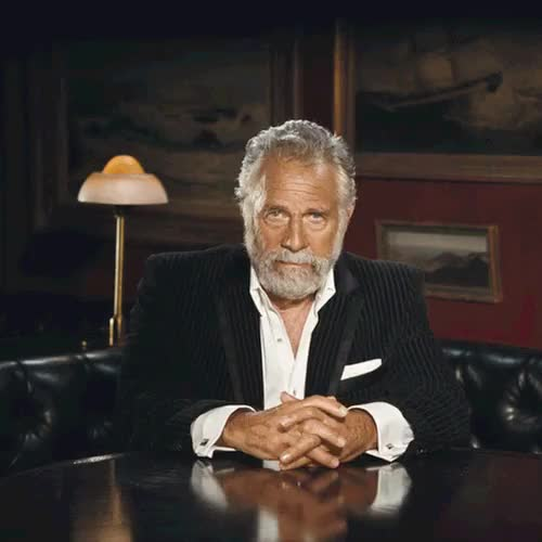 Watch and share The Most Interesting Man In The World GIFs and Laughing GIFs on Gfycat