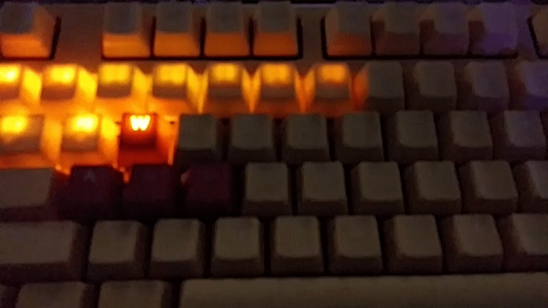 mechanicalkeyboards, [photos] Just got my Ducky Yellow with Milk/White MX (and I immediately started playing with the lighting options) (reddit) GIFs