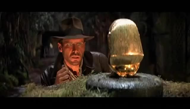 Watch and share Raiders Of The Lost Ark - Golden Idol And Boulder Scene GIFs on Gfycat