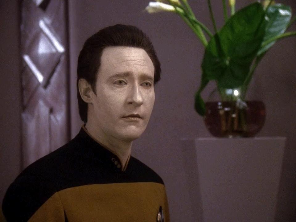 data, smile, startrek, Smile [Star Trek The Next Generation  Lt. Commander Data Brent Spiner] GIFs