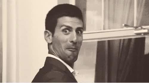Watch and share Novak Djokovic GIFs and Embarrassed GIFs on Gfycat