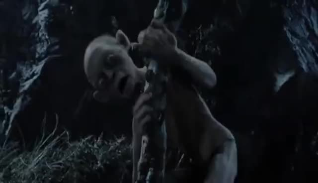 gollum, lord of the rings, lotr, scream, Gollum Scream GIFs