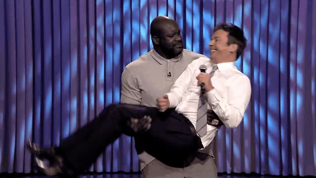 Watch and share Jimmy Fallon GIFs and Shaq GIFs by Reactions on Gfycat
