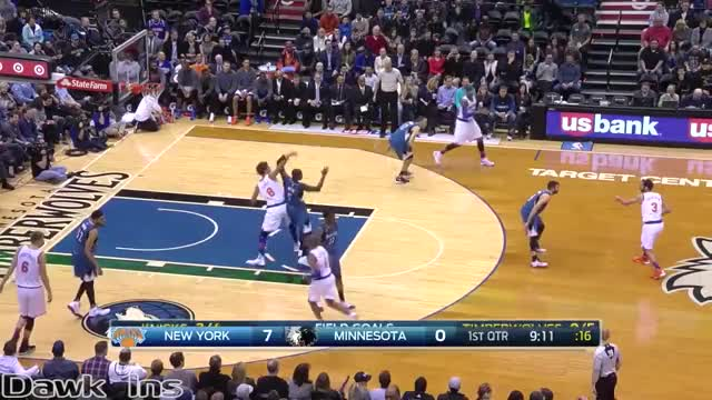 Watch Karl-Anthony Towns Full Highlights 2016.02.20 vs Knicks - 24 Pts, 8 Rebs, 4 Assists, 3 Blks. GIF by @bigbawls41 on Gfycat. Discover more basketball, nba GIFs on Gfycat
