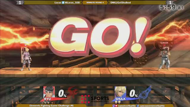 Watch Elements FGC #6 - Smash 4 Singles - Locus vs DMG|GetShulked, Game 3 1st Stock GIF on Gfycat. Discover more related GIFs on Gfycat