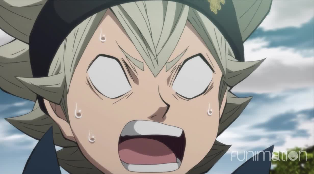 action, anime, black clover, black clover episode 39, funimation, shocked face GIFs