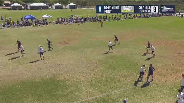 Watch New York PoNY vs Seattle Sockeye--2018 National Championships GIF by Bryce Merrill (@bmerrill) on Gfycat. Discover more Sports, USA Ultimate, USA Ultimate (Sports Association), Ultimate (sport), cricket, disc, frisbee, sport, usau GIFs on Gfycat