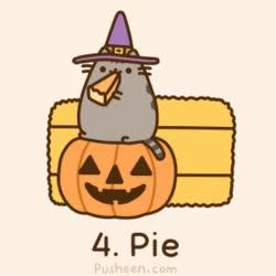 Watch and share Pusheen & Pumpkin Pie | Cat, Autumn And Halloween GIFs on Gfycat