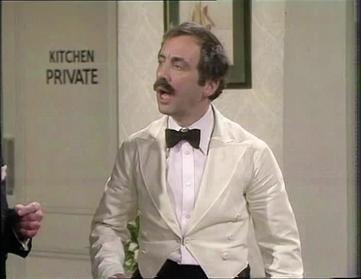 denial, deny, denying, dunno, dunnow, fawlty towers, manuel, playing dumb, wasn't me, Fawlty Towers S02E01 - I know nothing GIFs