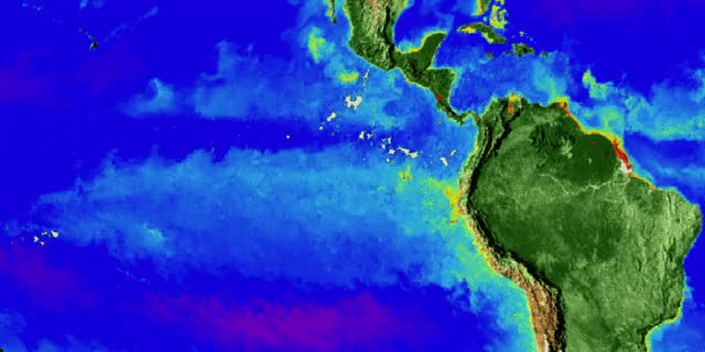 Watch and share Phytoplankton That Bloomed In The Eastern Equatorial Pacific As Conditions Changed From El Niño To La Niña GIFs by The Watchers on Gfycat