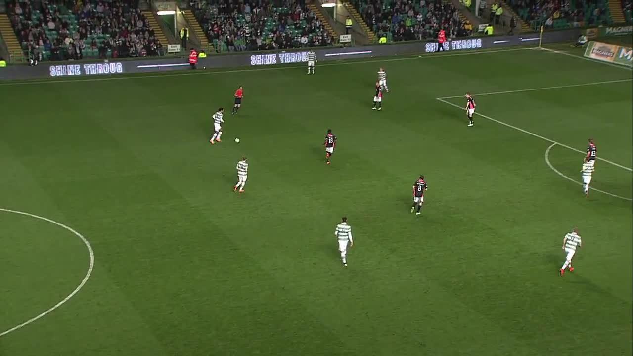 scottishfootball, soccer, Stefan Johansen scores for Celtic v Partick Thistle after a lovely passing move (reddit) GIFs