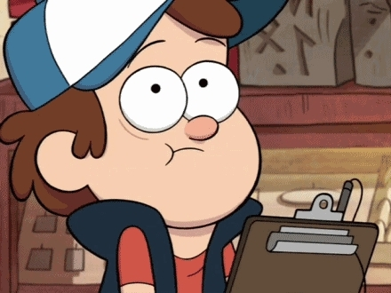GfycatDepot, adviceanimals, I am pretending to give a fuck [Gravity Falls Cartoon Network Dipper Pines write jot down scribble clipboard pen fake interest sarcastic nod IDGAF] (reddit) GIFs
