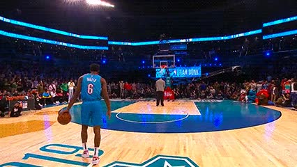 Watch and share Hamidou Diallo Ft. Shaquille O'Neal — 2019 Slam Dunk Contest GIFs by Off-Hand on Gfycat