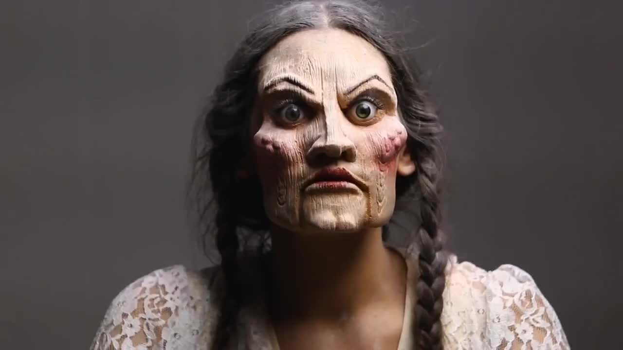 freakmo, Creepy Doll Makeup | Freakmo GIFs