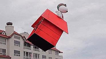 Watch and share Snoopy Doghouse Drone GIFs on Gfycat