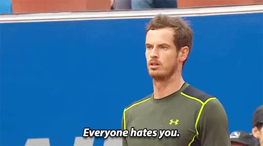 Watch and share Andy Murray GIFs and Hate GIFs on Gfycat