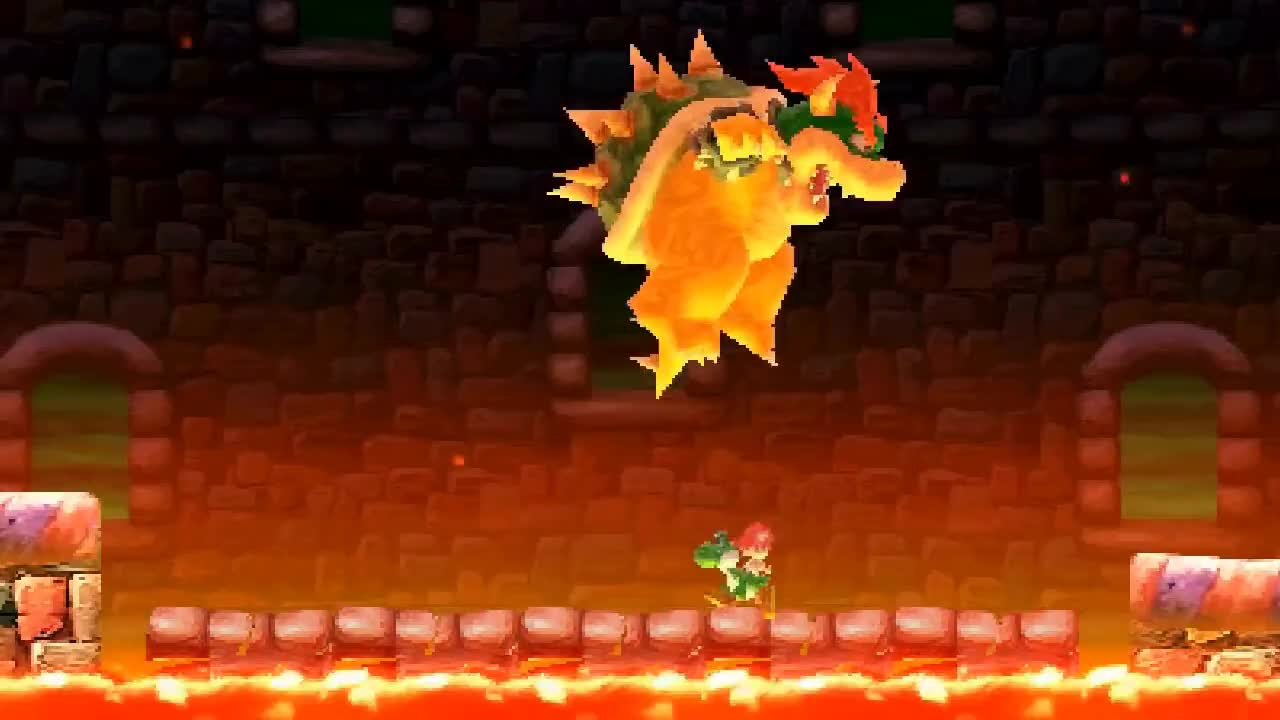 Giant Baby Bowser Battles GIFs