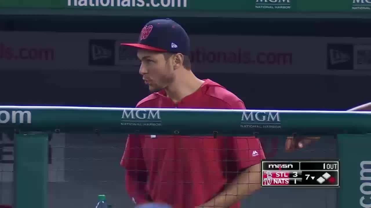 nationals, washington nationals, wilmer difo pointing and then laughing with trea turner GIFs