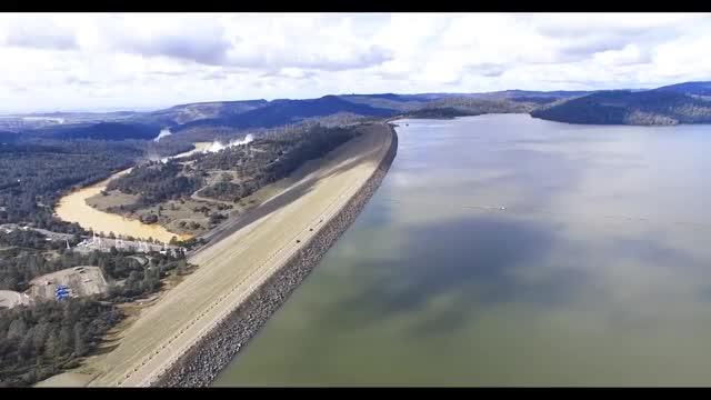 Oroville Dam Drone Video GIF   Find, Make & Share Gfycat GIFs