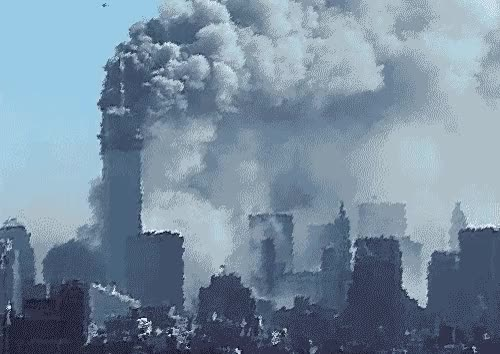 Watch and share New York, New York City, 911, Twin Tower, Collapse GIFs on Gfycat