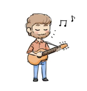 Watch and share Chibi Rhett Playing A Guitar (GIF) By StellaPollet GIFs on Gfycat