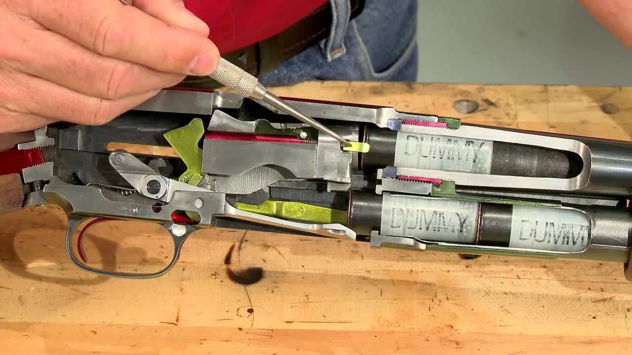 Firearms, ThingsCutInHalfPorn, thingscutinhalfporn, Winchester Model 12 cutaway model cycle of operation [gfy] (reddit) GIFs
