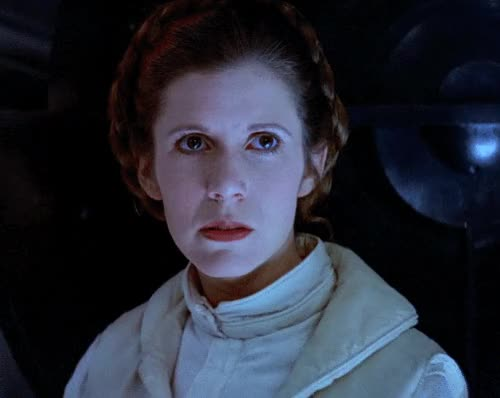 Watch and share Carrie Fisher GIFs and Princess Leia GIFs by Reactions on Gfycat
