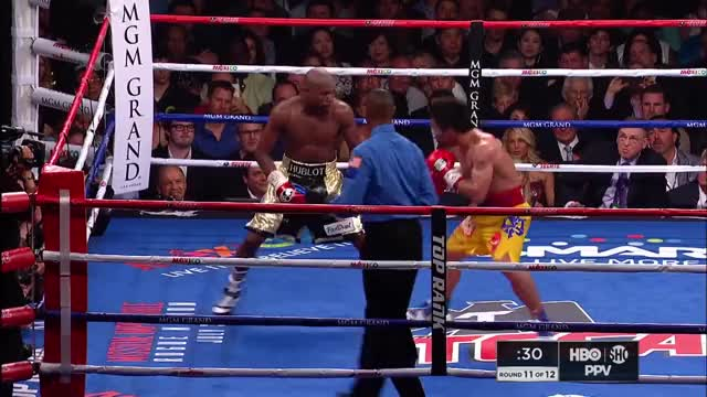 Watch Mayweather vs. Pacquiao: Round 11 | SHOWTIME CHAMPIONSHIP BOXING 30th Anniversary GIF on Gfycat. Discover more Boxing, fight of the century, full round, maypac, pacman, round 11, shosports, showtime, sports, undefeated GIFs on Gfycat
