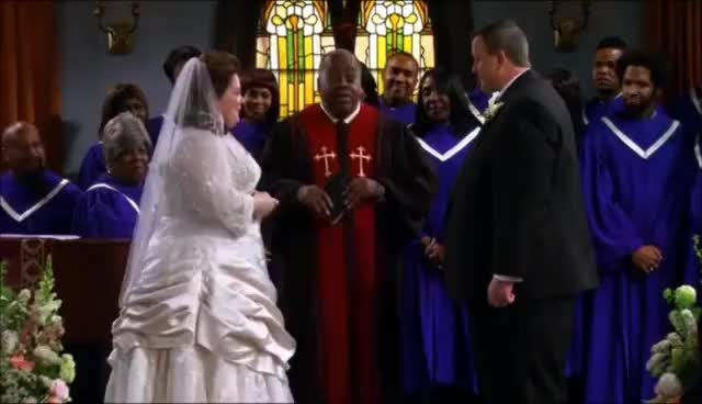 Watch and share Mike And Molly Wedding GIFs on Gfycat