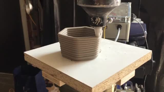 Watch Testing Clay Extrusion with the Robot GIF on Gfycat. Discover more producing ceramic vessels using a clay extruder and a robot GIFs on Gfycat