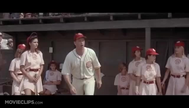 Watch There's No Crying in Baseball - A League of Their Own (5/8) Movie CLIP (1992) HD GIF on Gfycat. Discover more related GIFs on Gfycat